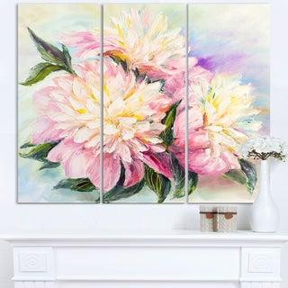 Blooming Pink Peonies - Floral Canvas Art Print