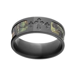 BZ New Break Up Mossy Oak Black Zirconium Camo Ring