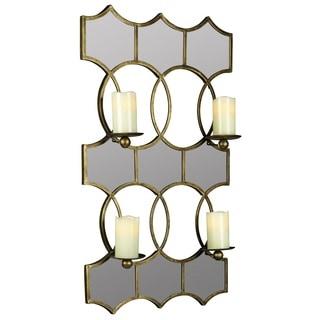 Cooper Classics Scaturro Lia Metal Mirrored Candle Holder