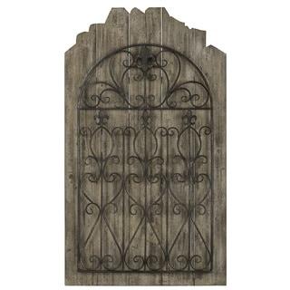 Cooper Classics Paxton Brown/Black Wood/Metal Wall Hanging