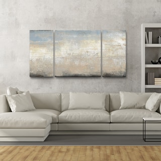Studio 212 'Tidal Rush' Canvas 30-inch x 60-inch Triptych Textured Wall Art