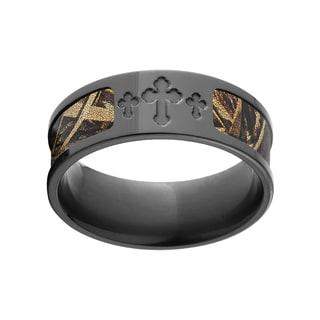 BZ Men's Black/RealTree Max 5 Camo Zirconium Ring