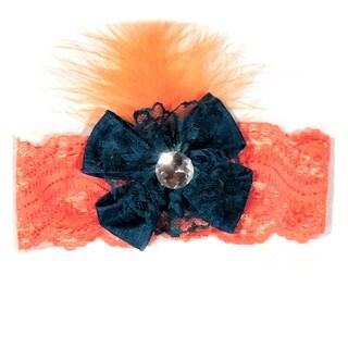Girls Lace Feather Headband