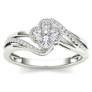 De Couer 10k White Gold 1/3ct TDW Diamond Fashion Ring (H-I,I2)