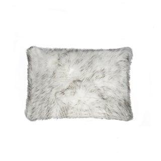 NA Luxe Belton Gradient Grey Faux-fur 12-inch x 20-inch Pillow