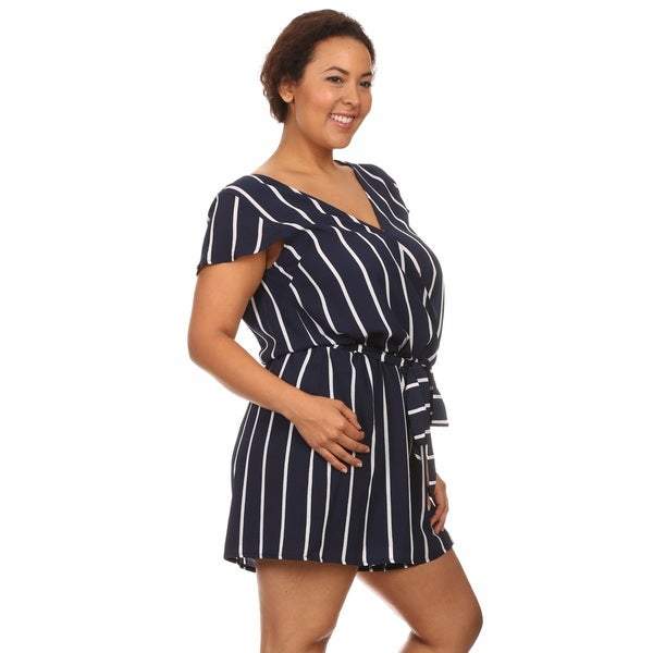 Hadari Women Short Sleeve V-Neck Short Romper