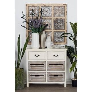 Antique White 6-drawer Wood Dresser