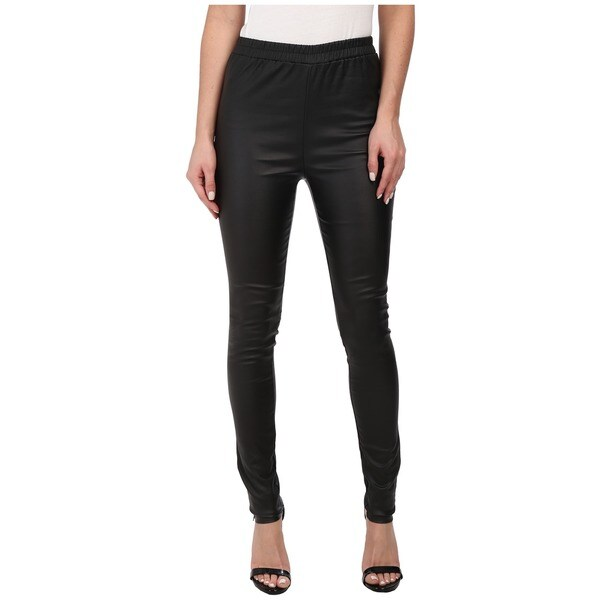 Minkpink Limitless Cotton Faux-leather Leggings