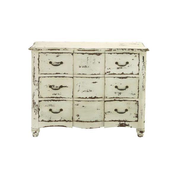 3-drawer Weathered Antique White Wood dresser