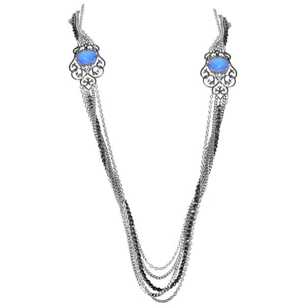 Stephen Webster Les Dents de la Mer Sterling Silver Multi-Gemstone Necklace