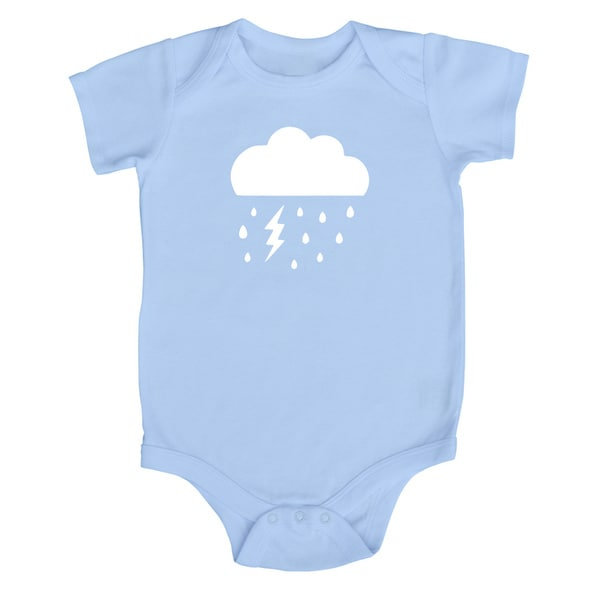 Rocket Bug Cloudy Day Cotton Baby Bodysuit