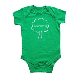 Rocket Bug 'Homegrown' Tree Cotton Baby Bodysuit