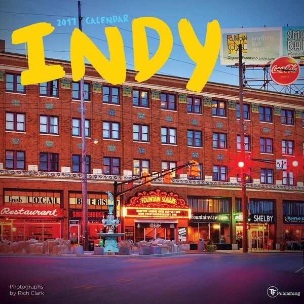 2017 'Indy' Indianapolis Wall Calendar