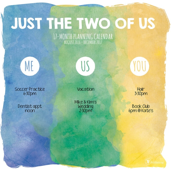 2017 'Just the Two of Us' 17-month Wall Calendar