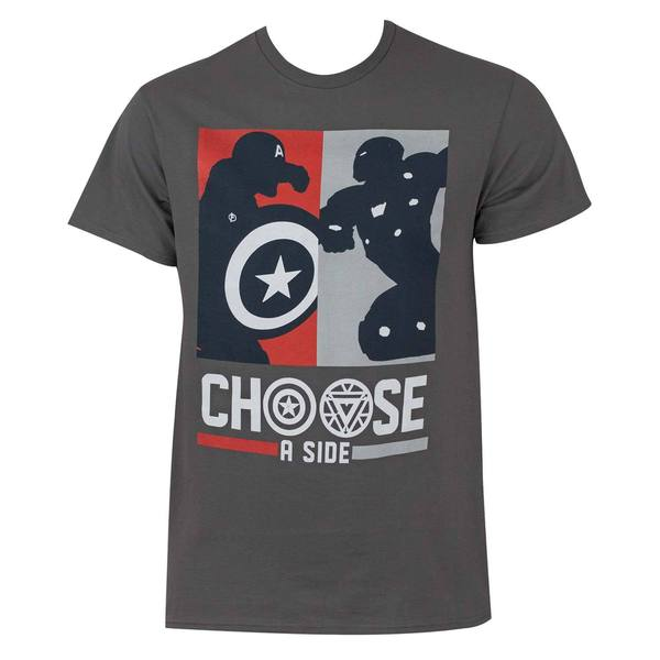Captain America Civil War Choose A Side Tee Shirt