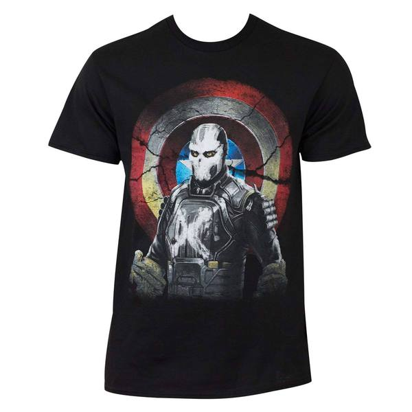 Marvel Captain America Civil War Mercenary Cross Bones Cotton/Polyester T-shirt