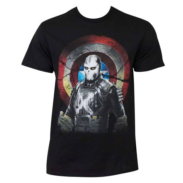 Marvel Captain America Civil War Mercenary Cross Bones Cotton/Polyester T-shirt