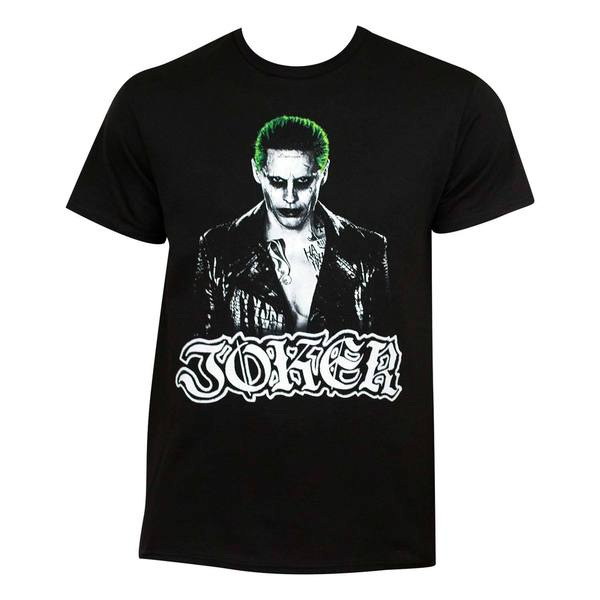 Suicide Squad Black Cotton Joker T-shirt