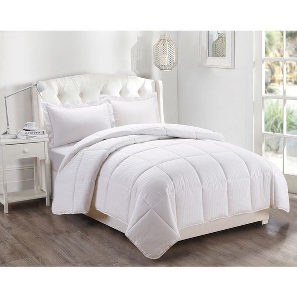 Down by Artistic Linen White Polyester Medium Warmth Goose Down Alternative Comforter Duvet Insert