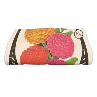 28 x 58-inch Zinnia Floral Print Bath Towel