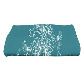 28 x 58-inch Morning Birds Floral Print Bath Towel