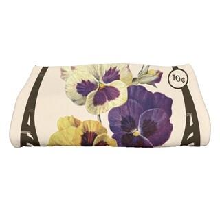 28 x 58-inch Pansy Floral Print Bath Towel