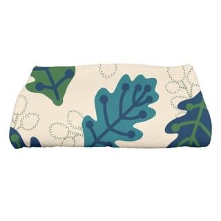 28 x 58-inch Retro Leaves Floral Print Bath Towel