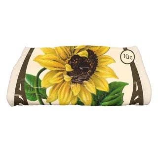 28 x 58-inch Sunflower Floral Print Bath Towel