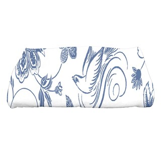 28 x 58-inch Traditional Bird Floral Floral Print Bath Towel