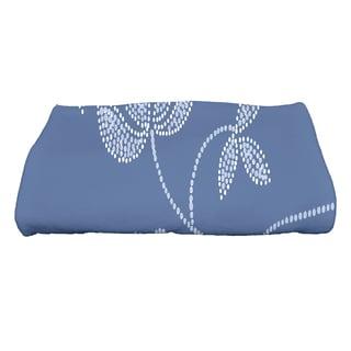 28 x 58-inch Traditional Flower-Single Bloom Floral Print Bath Towel
