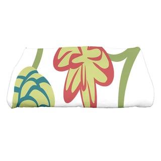 28 x 58-inch Tropical Floral Floral Print Bath Towel