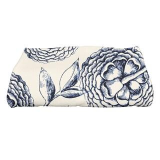 28 x 58-inch Antique Flowers Floral Print Bath Towel