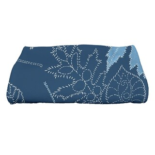 28 x 58-inch Dotted Leaves Floral Print Bath Towel