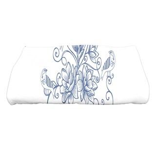 28 x 58-inch Five Little Birds Floral Print Bath Towel