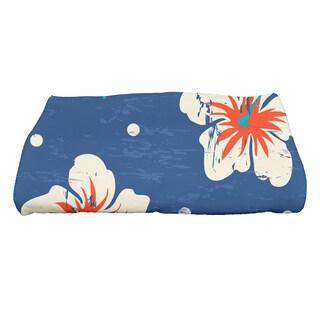 28 x 58-inch Hibiscus Blooms Floral Print Bath Towel
