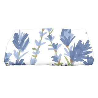 28 x 58-inch Lavender Floral Print Bath Towel