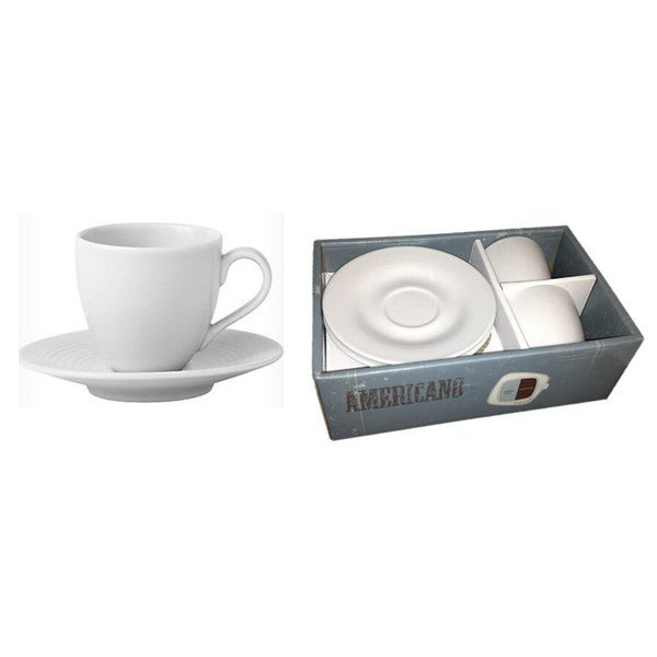 3-ounce Espresso Cups with Saucer Set (Set of 2)