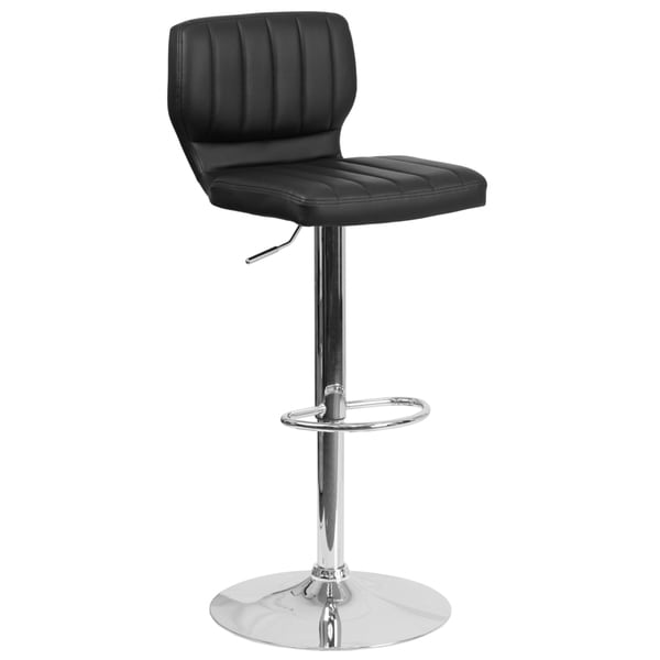 Contemporary Barstool with Chrome Base 19652351