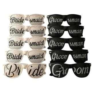 Unik Occasions Bridal Wedding Party Sunglasses (Set of 4)