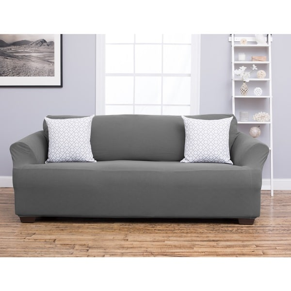 Home Fashion Designs Cambria Collection Polyester Heavyweight Stretch Slipcover and Furniture Protector for Sofas