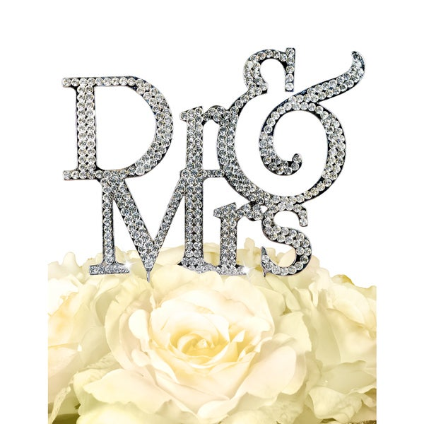 Unik Occasions Sparkling Collection 'Dr & Mrs' Cake Topper
