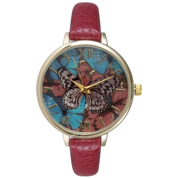 Olivia Pratt Women's Stylish Butterfly Watch 19653633
