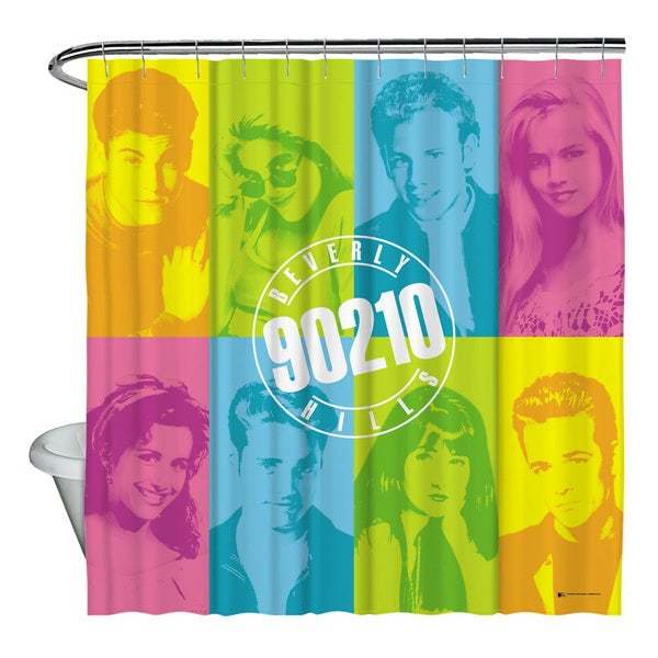 Beverly Hills 90210/Color Blocks Shower Curtain