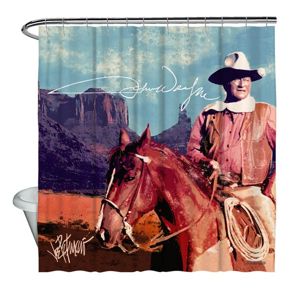 John Wayne/Monument Man Shower Curtain
