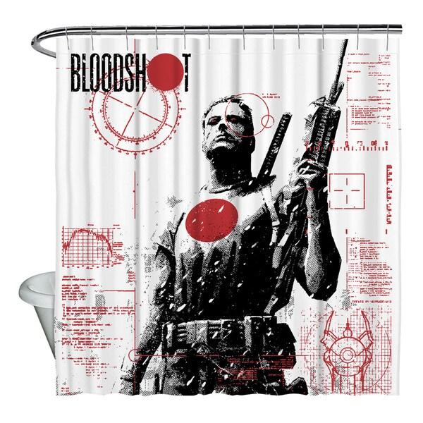 Bloodshot/Take Aim Shower Curtain