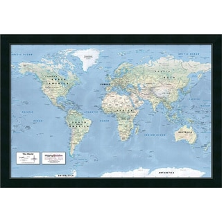 Framed Art Print '2016 World Map, Classic Political' by Mapping Specialists 39 x 27-inch