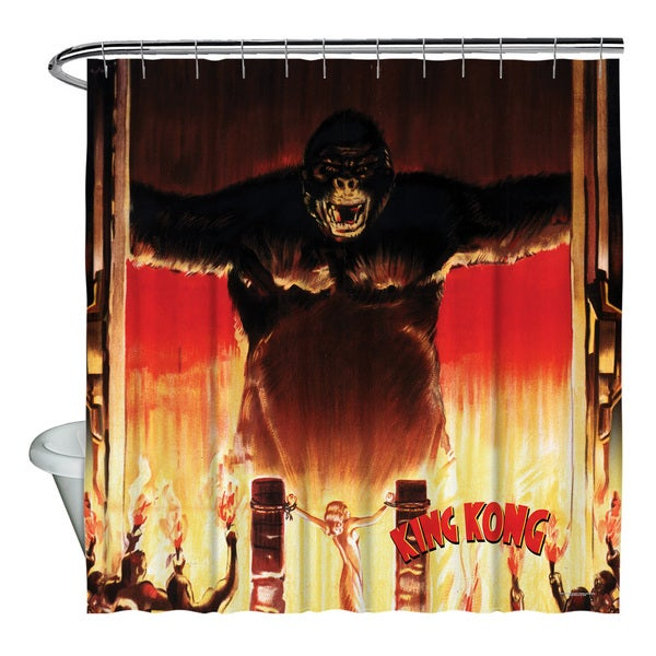 King Kong/At The Gates Shower Curtain