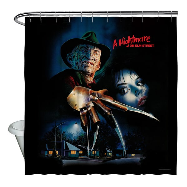 Nightmare On Elm Street/Freddy Poster Shower Curtain