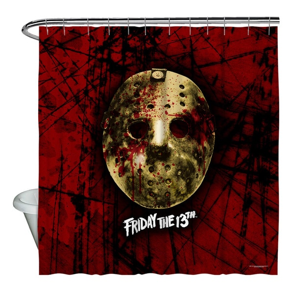 Friday The 13Th/Bloody Mask Shower Curtain
