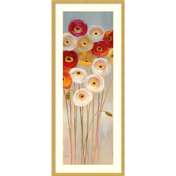 Framed Art Print 'Follow the Sun II Poppies' by Nan 17 x 41-inch